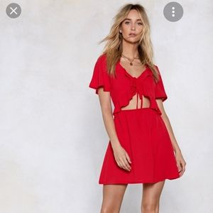 NWT Nasty Gal Things Will Work Cut-Out Dress